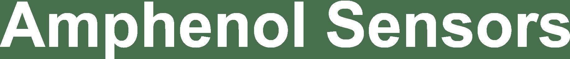 Amphenol Sensors Logo in white