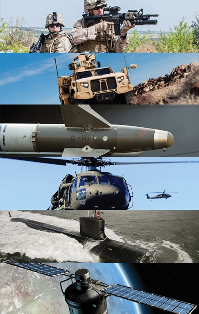 military applications collage